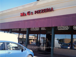 Storefront to Mr. G's Pizzeria