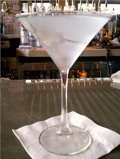 Grey Goose Martini Up with Bleu Cheese Olives