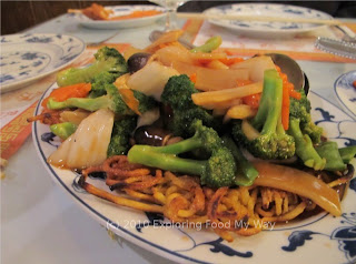 Vegetables over Pan-fried Noodles
