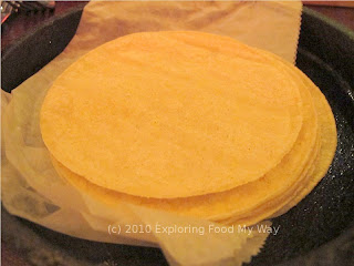 Stack of Warmed Flour Tortillas