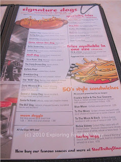 Steel Trolley Diner's Menu Page 3