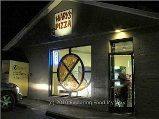 Front Entrance to Mary's Pizza Shop