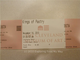 Ticket for Kings of Pastry