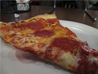NY Style Pizza Slice Angle 2
