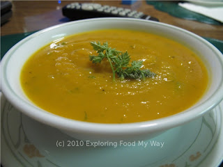 Bowl of Roasted Butternut Squash Soup