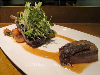 Ohio Pork Chop with Crisp Pork Belly and Cider Reduction