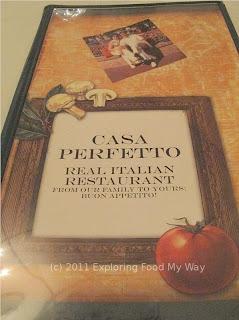 Casa Perfetto's Menu Page 1