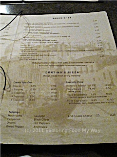 Dontino's Dinner Menu Page 3
