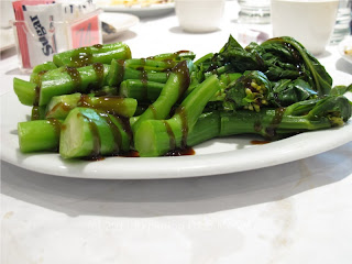 Steamed Chinese Broccoli with Oyster and Soy Sauce