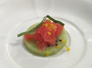 Frozen Kiwi and Orange Granita Intermezzo