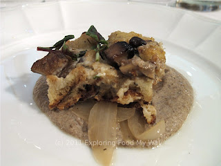 Wild Mushroom Bread Pudding
