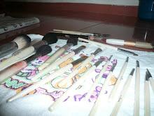 my brushes...