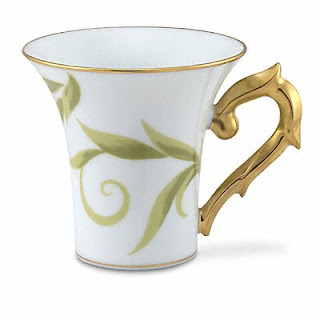 Bernardaud After Dinner Frivole Cupl :  table bernardaud mug gold