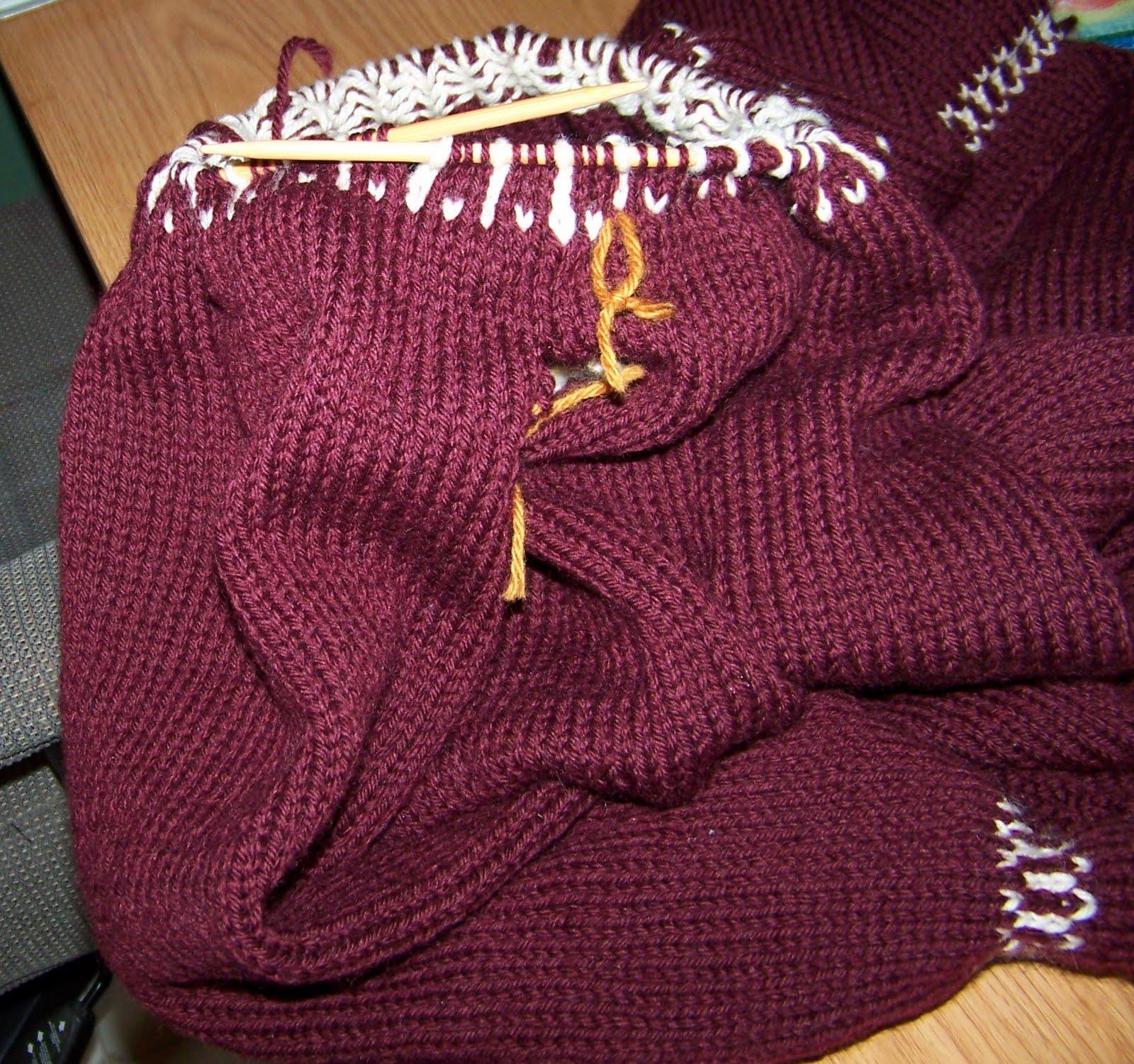 Yoke Knitting Pattern : Swirl Yoke Knitting Pattern