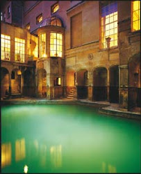 The Roman Baths at Night