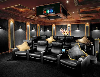 Home Theater Decorating on Artistic Home Interior  Home Theater Design