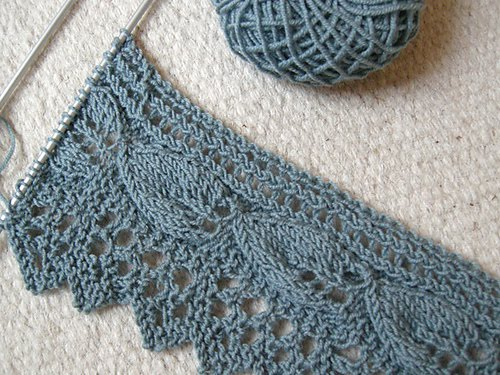 Knitted Bliss Modification Monday Apple Leaf Lace Scarf