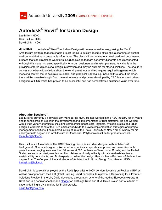 Revit Landscape Architecture