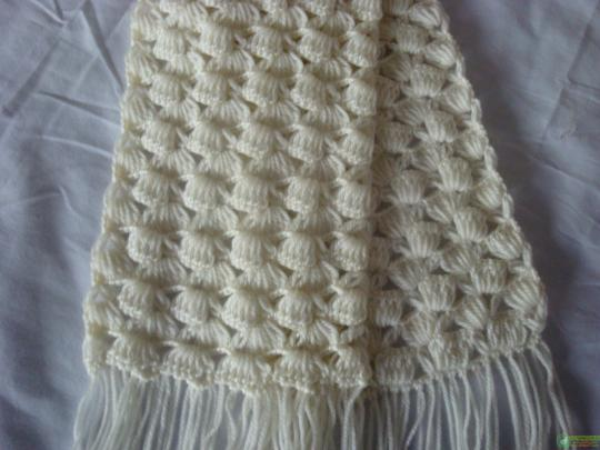 Зимний шарф крючком схема