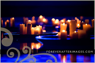 He asked i said yes pools are meant for swimming or Floating candles swimming pool wedding