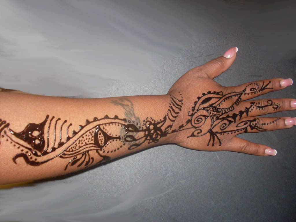 Mehndi Tattoos For Arm : Arabic mehndi free henna tattoo designs