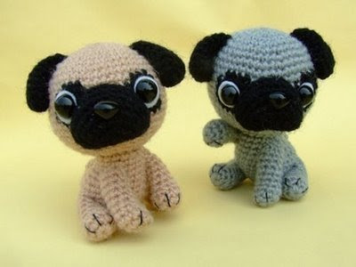 Free Crochet Pattern For Pug Dog : NanjoDogz: Cute Puppy Crochet Patterns