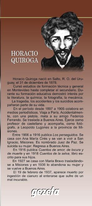 """caricatura de H.Quiroga para solapa de """"Cuentos de locura, de amor, y de muerte"""""""