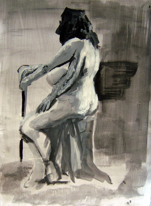 Alma desnuda, sentada de espaldas