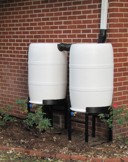 Double rain barrel hook up