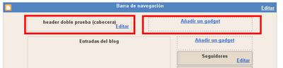 Como dividir la cabecera header