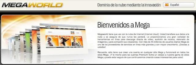 Megaupload lanza Megaworld servicios hosting