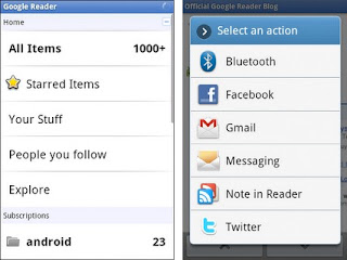 Google Reader: aplicación dispositivos Android