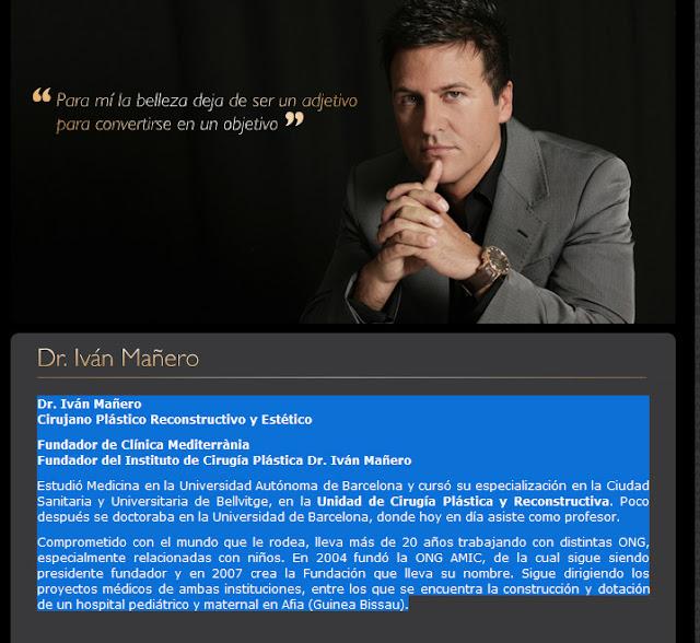 Iván Mañero cirujano plastico