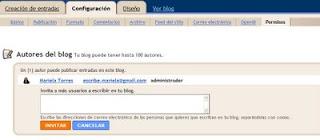 blogger: agregar permisos autores lectores blog