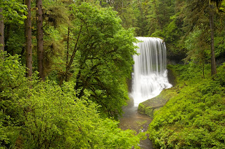 Middle North Falls, Silver Falls State Park in Spring, Oregon