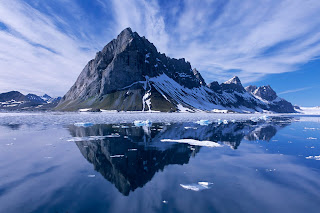 Mountain Reflections, Spitsbergen, Norway