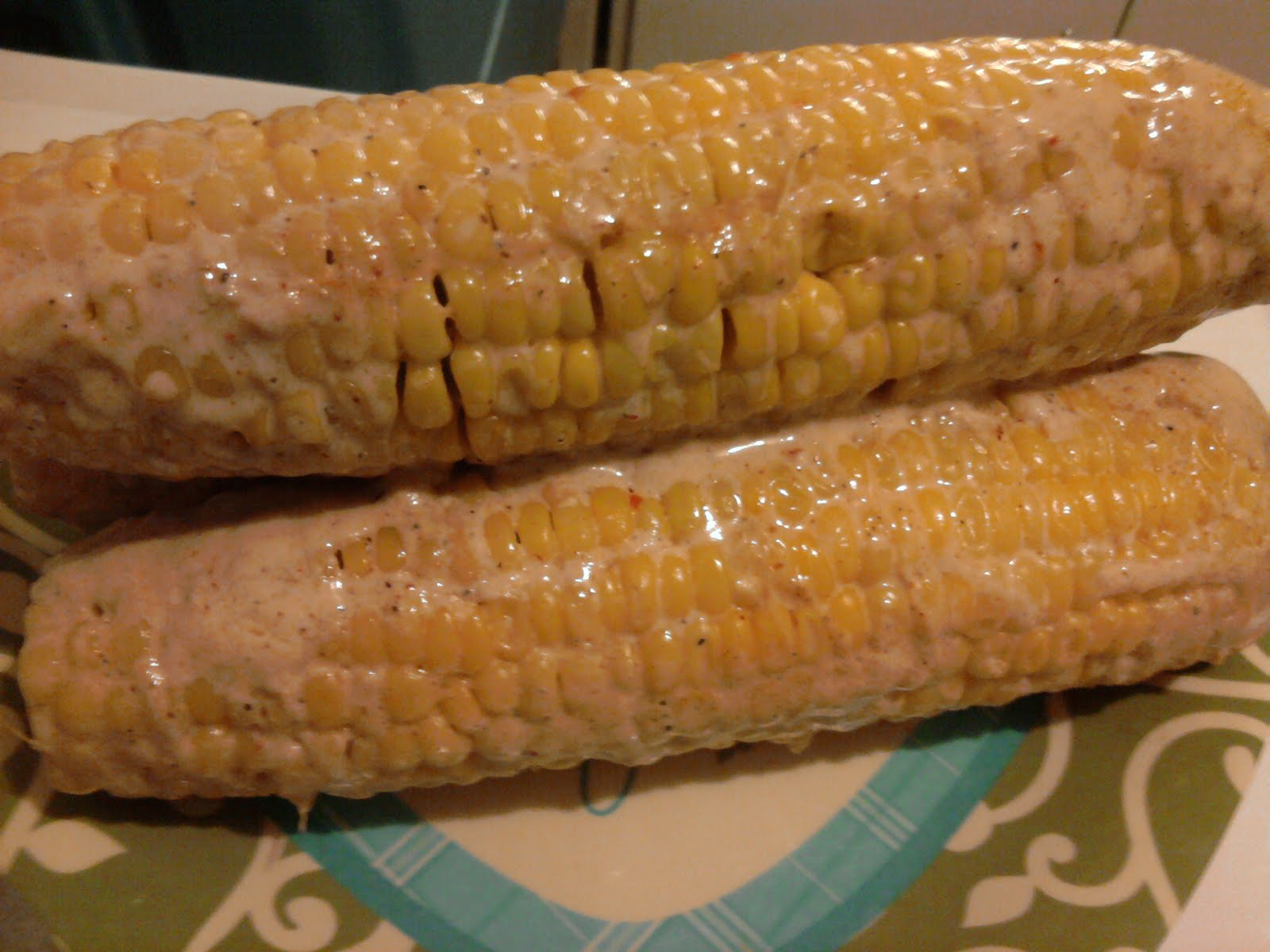 ... Labor Day weekend treats... Oven Roasted Corn in Chile Coconut Milk