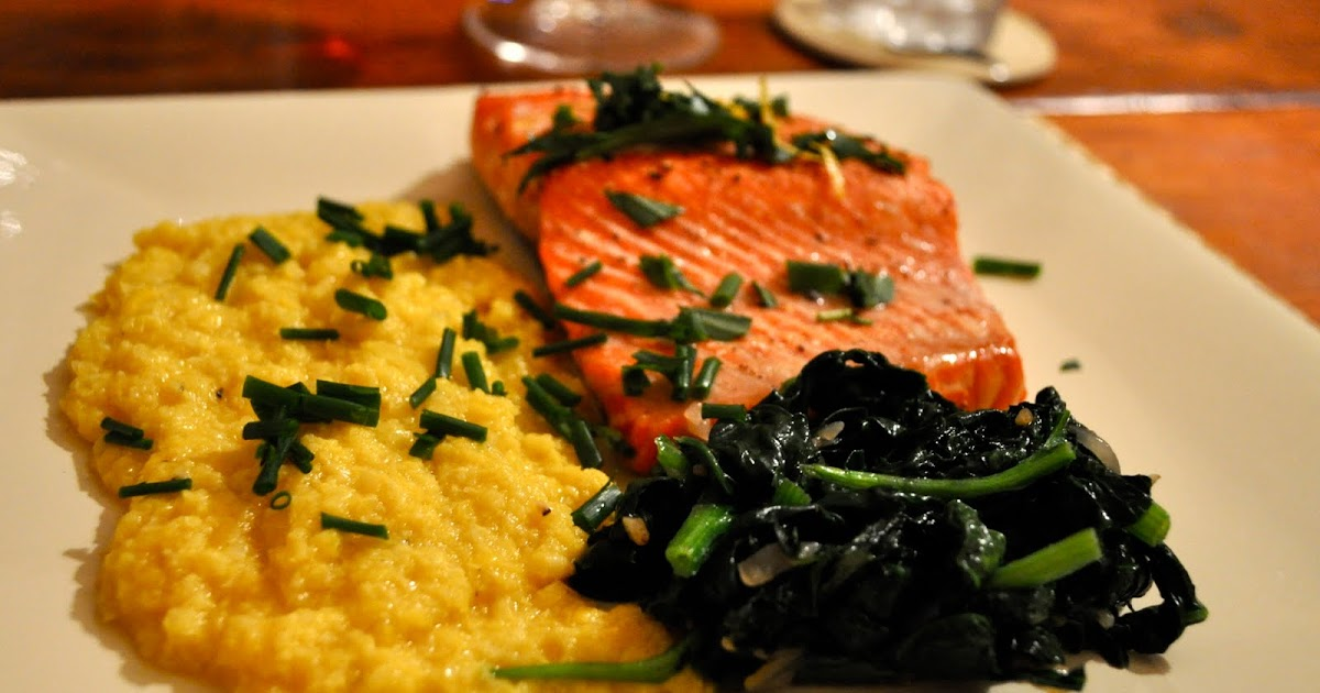 Two Sisters, Two Suppers: Grilled Sockeye Salmon, Fresh Corn Polenta ...