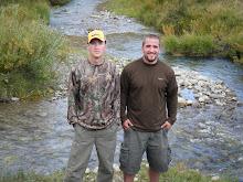 Wayne and Randy by stream