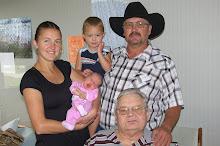 Great Grandpa, Grandpa, Jennifer and kids