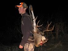 Wayne with his deer