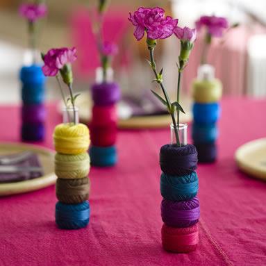 цветы в пробирке самодельное украшение для свадьбы
