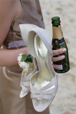 свадьба - туфли и шампанское
