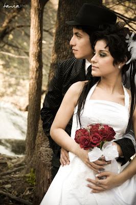экзотическая свадебная пара