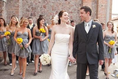 свадьба в серо-желтой гамме подружки невесты
