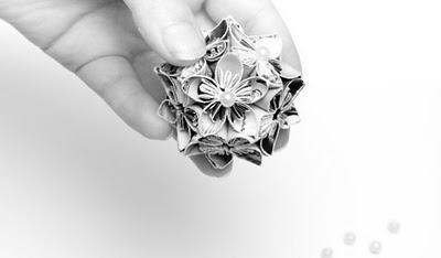 Японские бумажные цветы кусудама Kusudama
