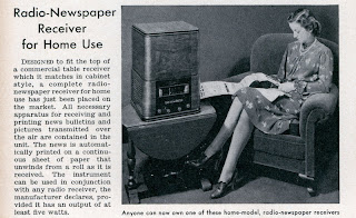 1939 Radio Fax News Bulletin Machines