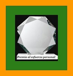 Premio al esfuerzo personal!!