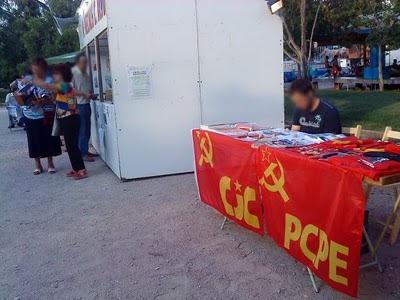 Los comunistas del PCPE y CJC en las fiestas de Carabanchel Alto DSC00202