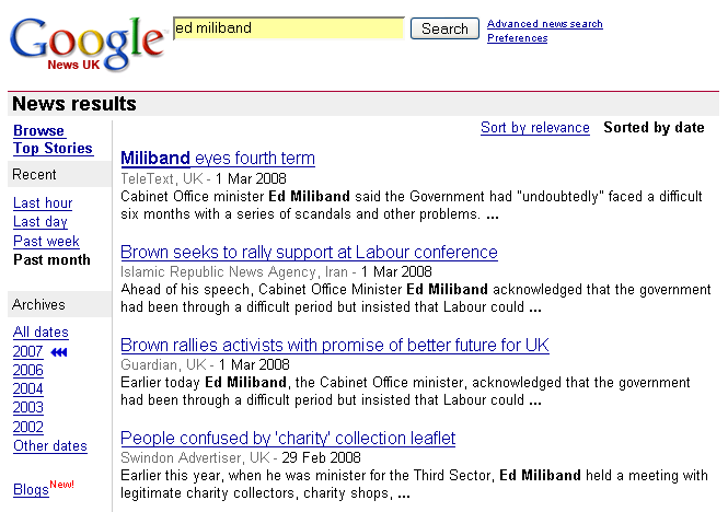 Ed Miliband hits the news on March 2nd
